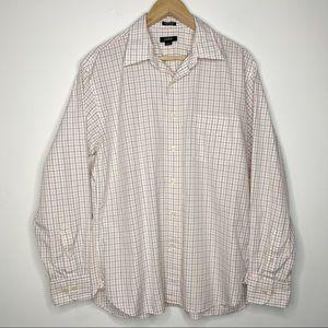 J. Crew 2-Ply Cotton Button Down Dress Shirt | L